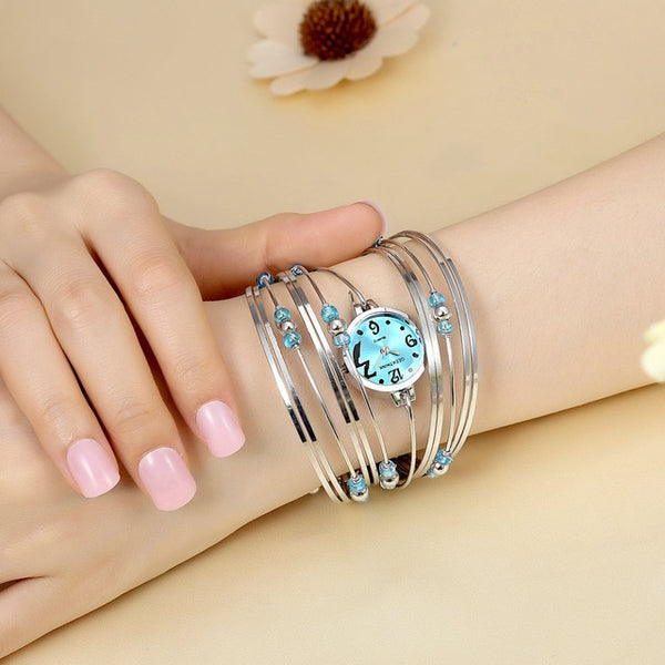 Bohemian Quartz Steel Band Bangle Watch
