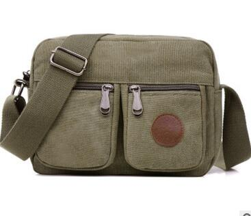 Multi-Pocket  Single Strap Canvas Travel Bag