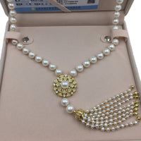 Women's 10mm Natural Round Pearl Strand Long Necklace