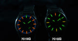 EPOCH 7019G Steel/Leather Strap Waterproof Tritium Gas Luminous Men's Watch