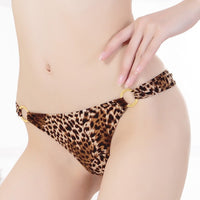 Leopard Print Low-rise Thong