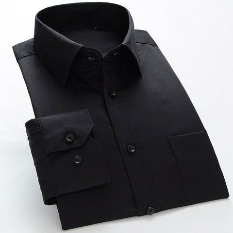 Men's Silk Long-Sleeve Dress Shirt