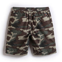 Men's Green Camouflage Pattern Beach Shorts
