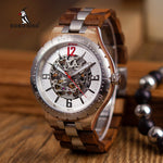 Mechanical Waterproof Wood Grain Watch