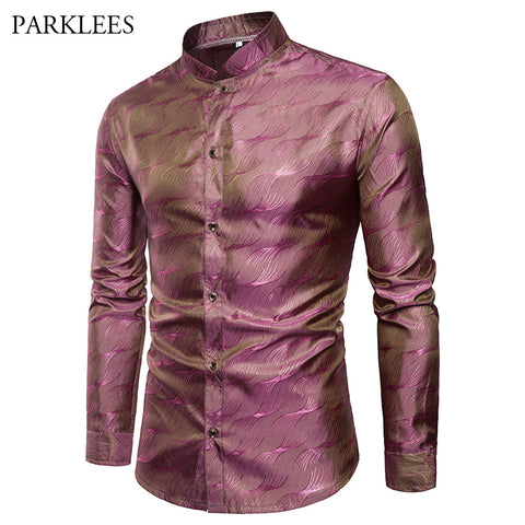Men's Long-Sleeve Exotic Print Shirt