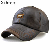 Genuine Leather Look Designer Baseball Style Cap
