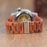 Mechanical Wood Grain Men's Designer Watch