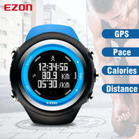 GPS Pace Counter Calorie Monitor Digital Sports Watch