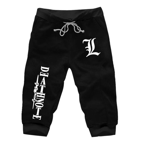 Anime Death Note L Loose Knee Length Shorts