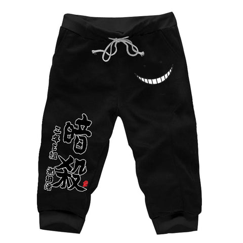 Mens Anime Assassination Classroom Cotton Shorts