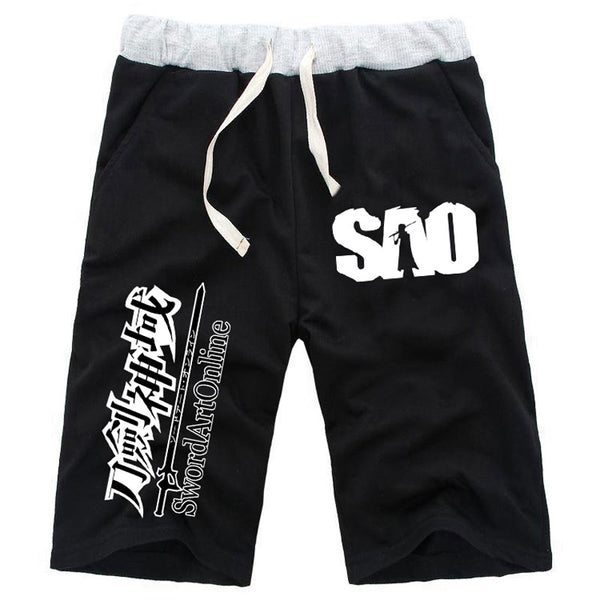 Anime Sword Art Online Straight Knee Length Cotton Shorts