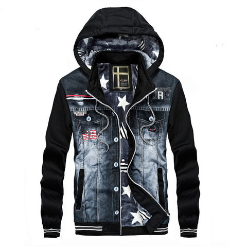 Fleece Hooded Star Lined Jacket