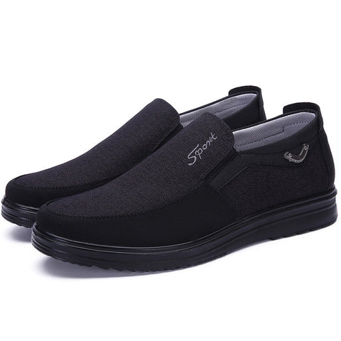 Canvas Two Texture Casual Slip-on Shoes