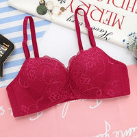 Floral Print Wireless Front Closure Bra