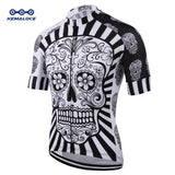 White Skull Sublimation Printing Cycling Jersey Best 2019 Pro Polyester Bike Wear Summer Men Quick Dry Cycling Top Bicycle Shirt