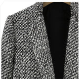 Wool Blend Single Button Coat