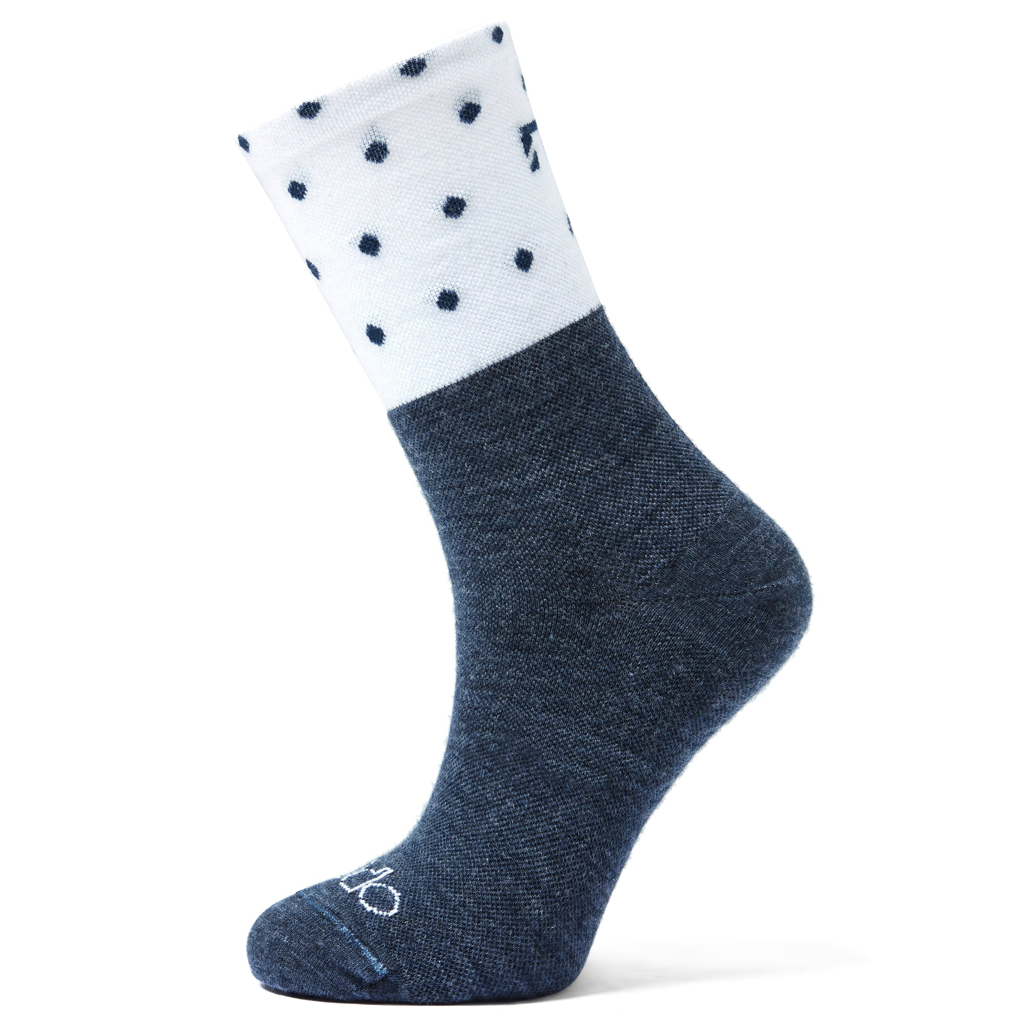 All Season Merino Wool - Blue & White Polka Dots