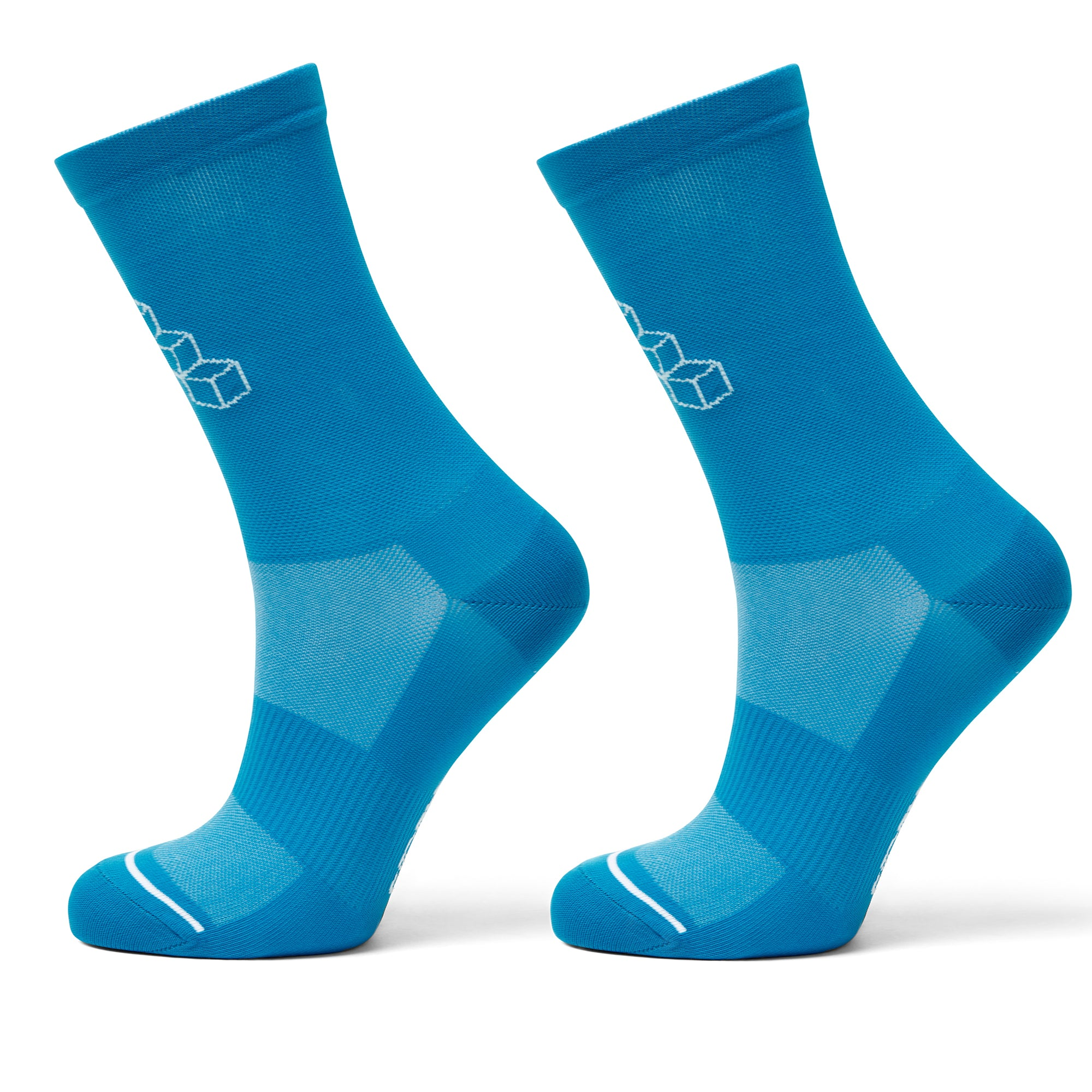 Cycling sock blue