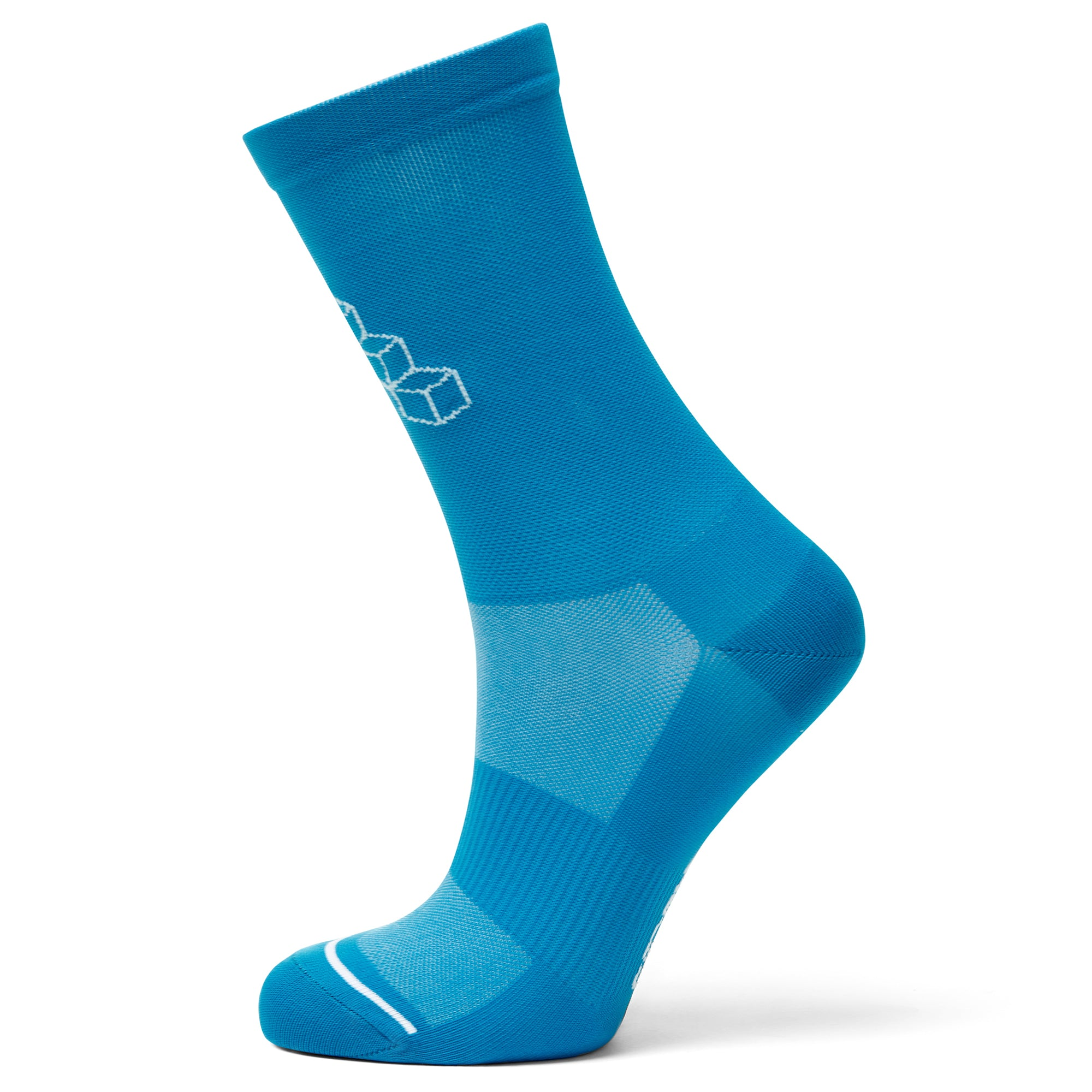 Summer cycling socks blue