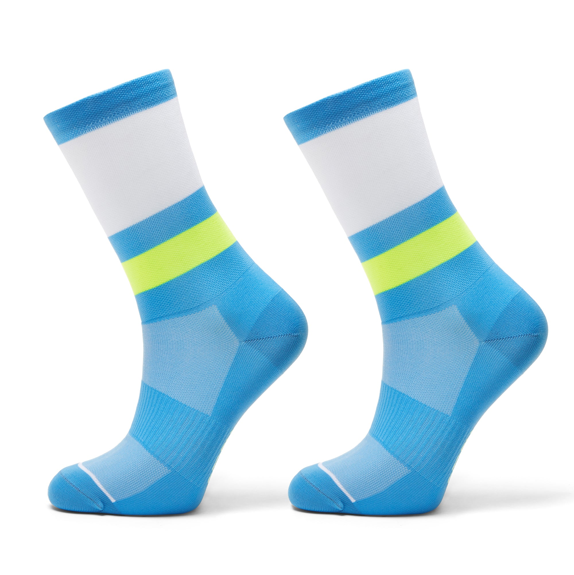Cycling Socks Funky Blue, Yellow, White