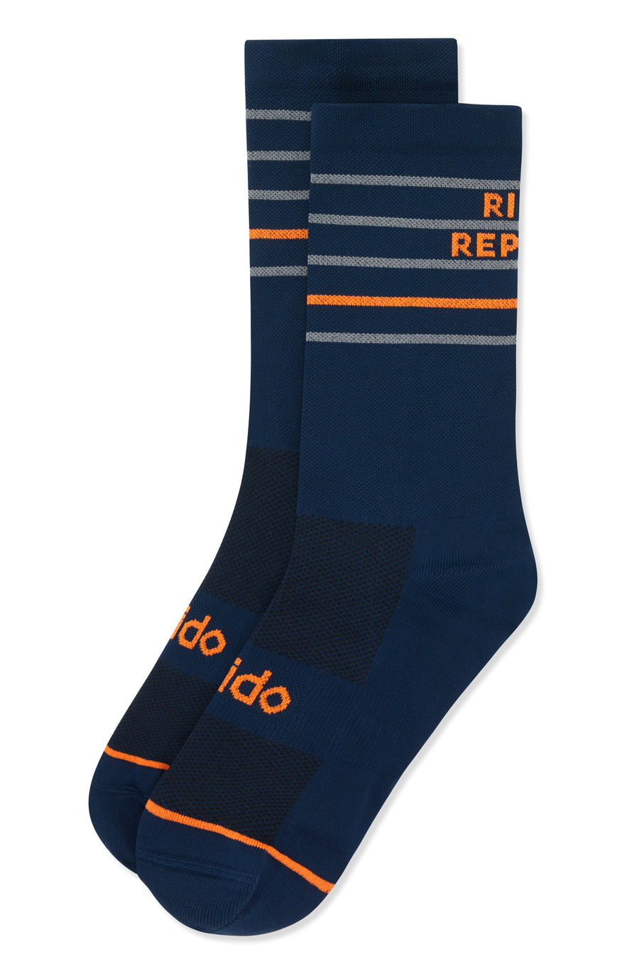 Navy Cycling Socks with Eat Sleep Ride Repeat on the back