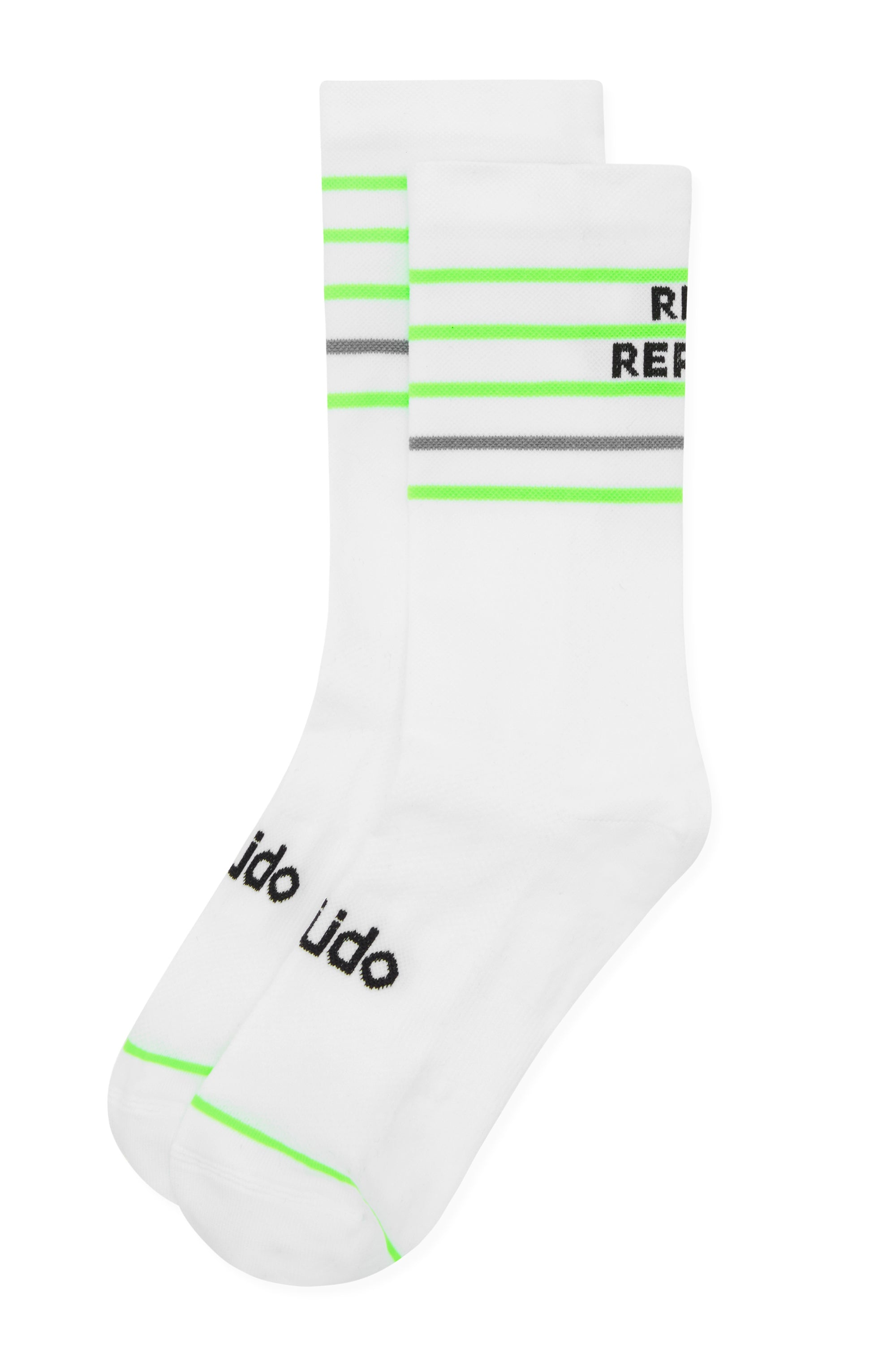 White funky cycling socks