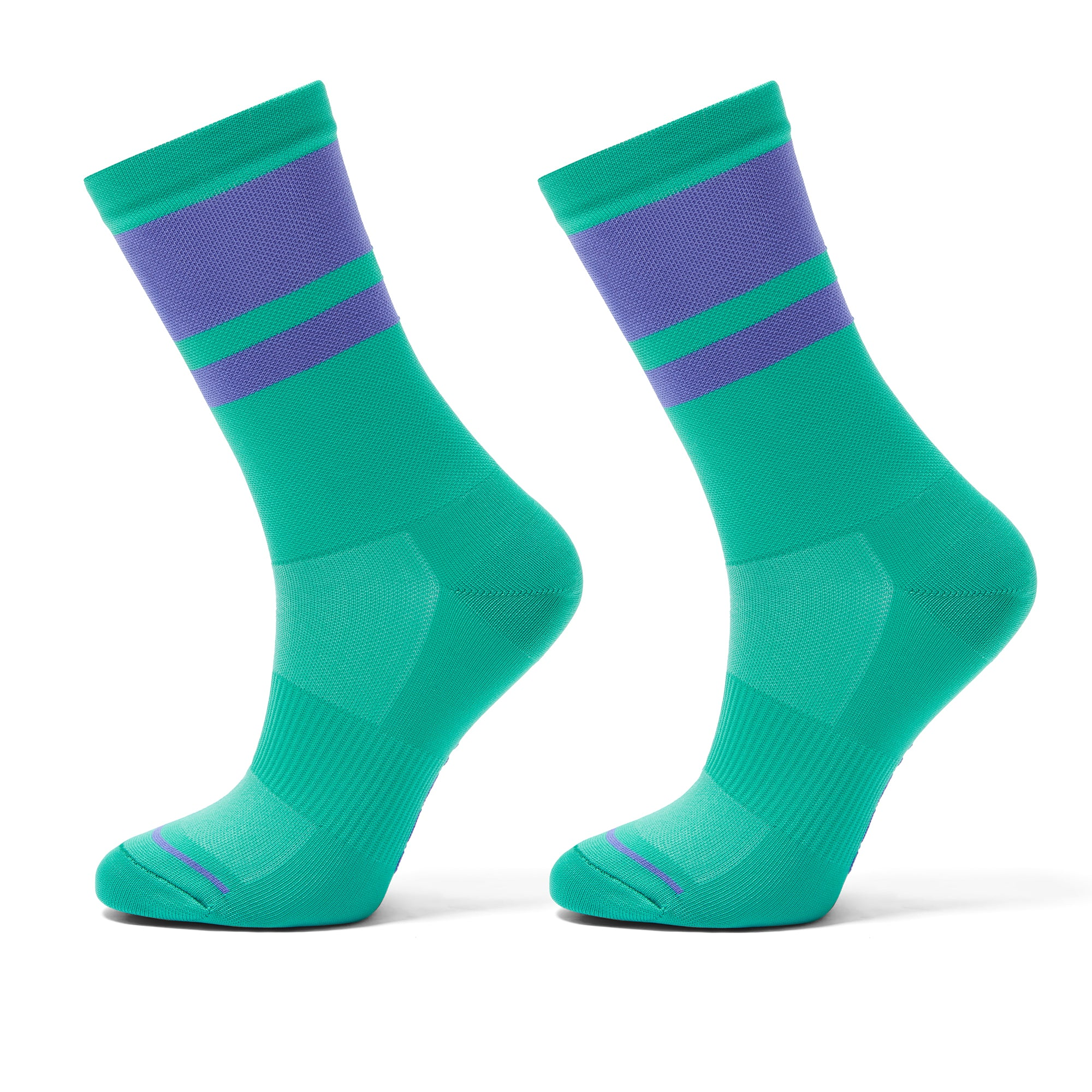 Cycling socks green/purple