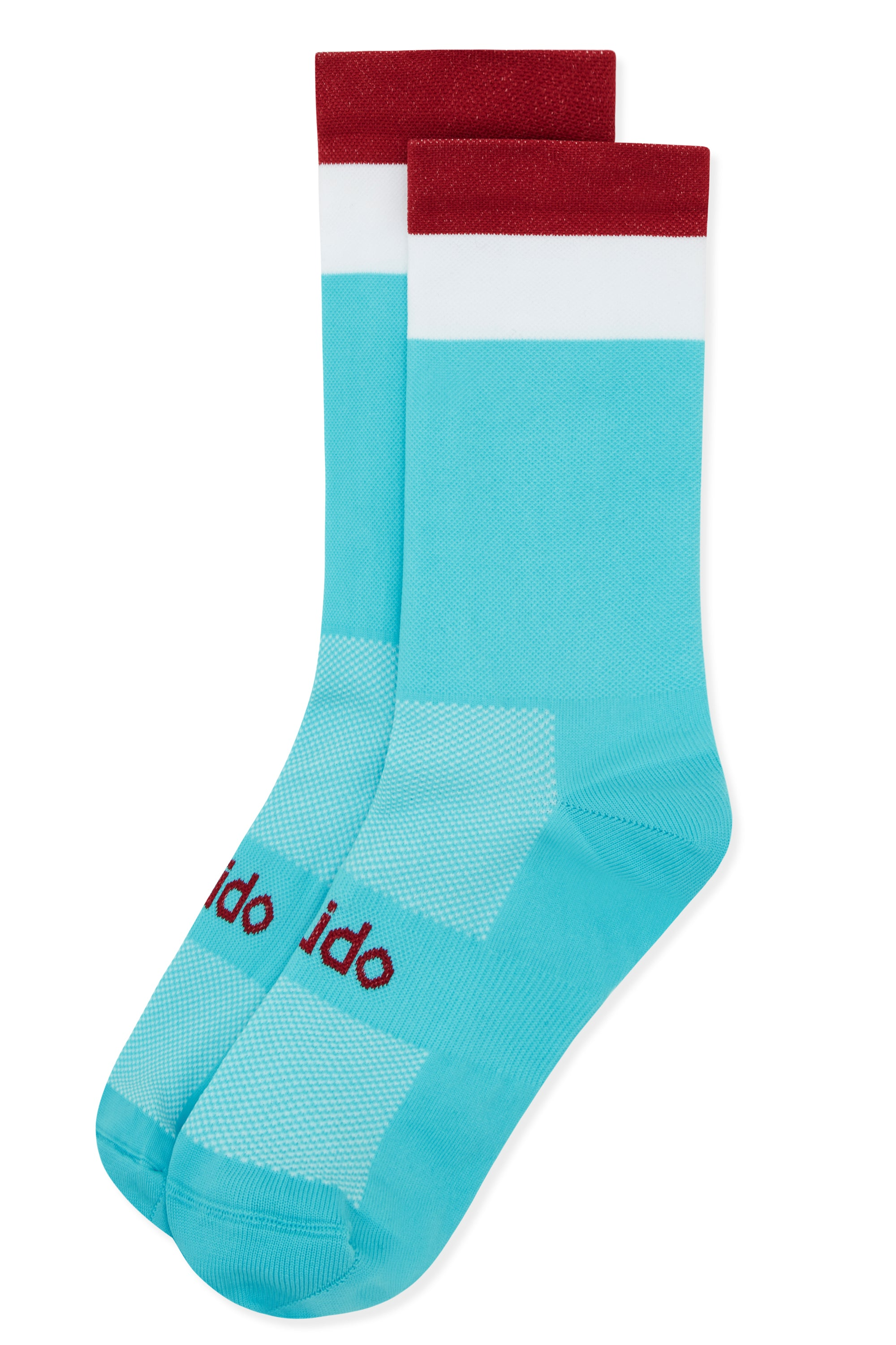 Blue & white cycling socks