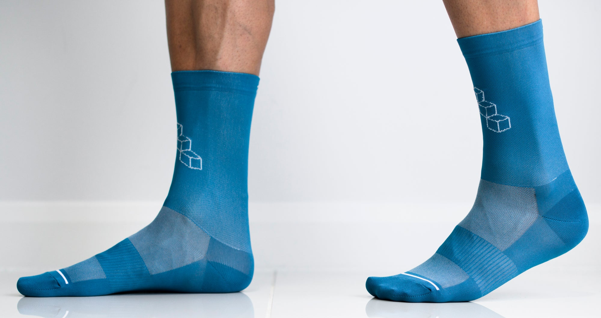 Turq blue cycling sock on sale.