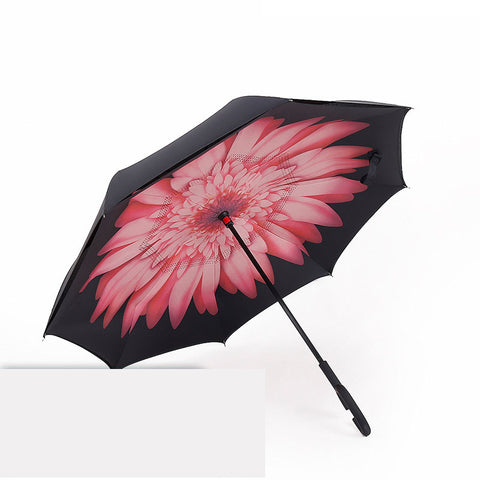 Windproof Reverse Umbrella Double Layer Inverted Umbrella Self Stand umbrella rain/sun women/men high quality 2017 Child durable