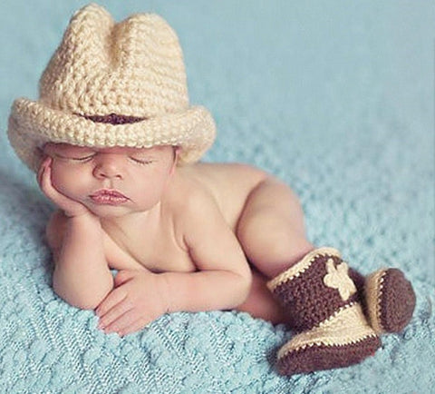 Baby Photography Prop Crochet Knit Cute Cap and  Pants