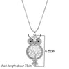 Image of Cute Crystal Owl  Necklaces Women Jewelry