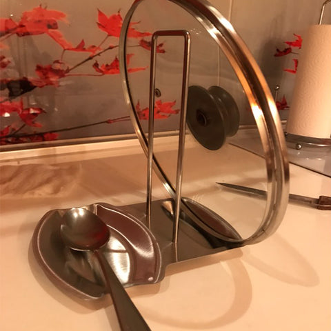 Lid Rack & Spoon Holder