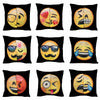 Image of Awesome Changing Face Emoji Decorative Sequin Pillow Cases