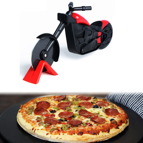 Stainless Steel Motorcycle Pizza Cutter