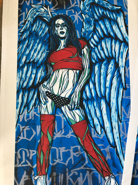 Oversized Blue Lady Print - Signed and Numbered by NORM