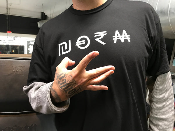 NORM Currency Black Tee