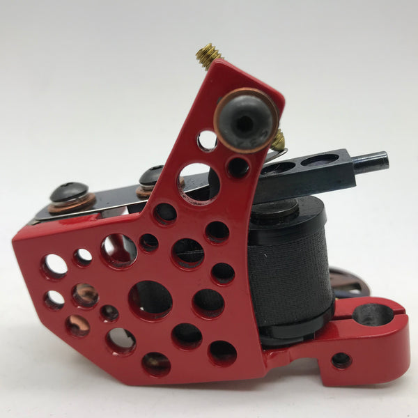 READY TO SHIP - Red Punchout Frame with Black Coils Liner