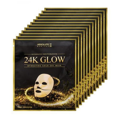 Absolute 24K Glow Gold Gel Mask - Pack of 12 Pieces