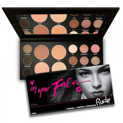 RUDE In Your Face 3-in-1 Palette