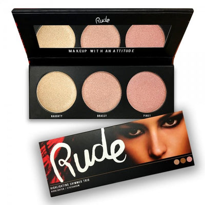 RUDE Cosmetics Highlighting Shimmer Trio