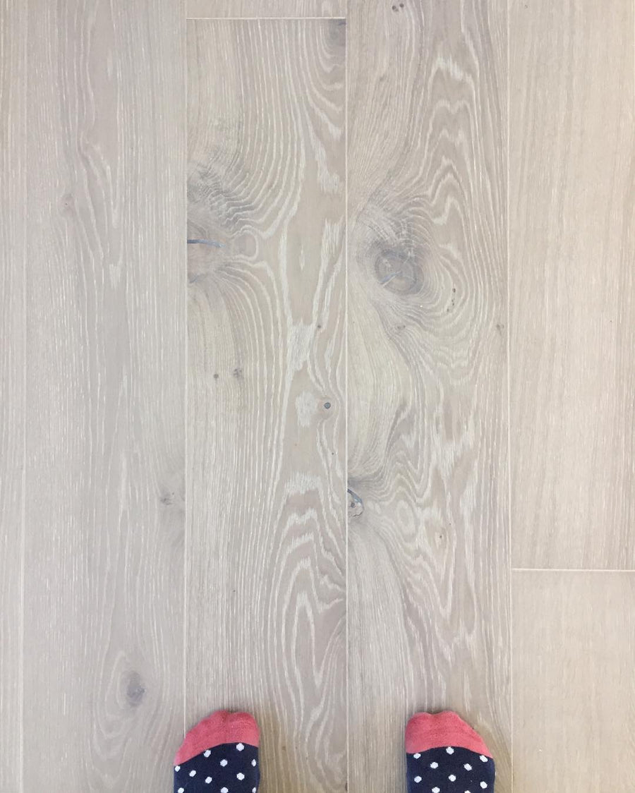 Kährs Oak Nouveau Gray. Wide plank engineered hardwood flooring from Sweden.