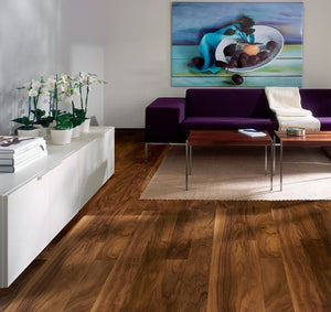 Kährs Garden Walnut. Wide plank engineered hardwood flooring from Sweden.