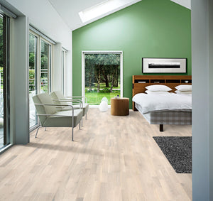 Kährs Oak Pale. European engineered hardwood flooring from Sweden.