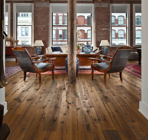 Kährs Oak Sparuto. Rustic, wide plank engineered hardwood flooring from Sweden.