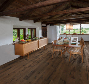 Kährs Oak Tveta. Wide plank engineered hardwood flooring from Sweden.