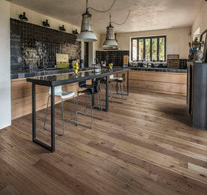 Kährs Oak Ydre. Wide plank engineered hardwood flooring from Sweden.