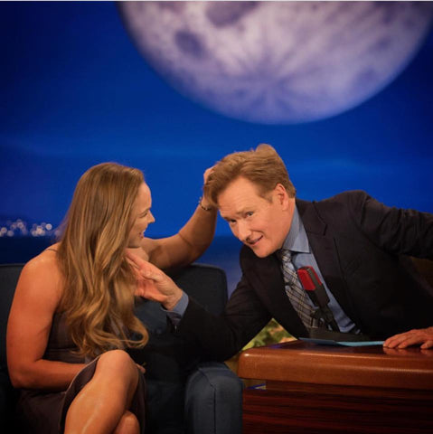 Ronda Rousey wears KAURA JEWELS  on the Conan O'Brian show!