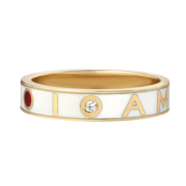 I AM AWAKE mantra ring