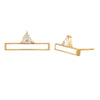 devotion bar earrings WHITE